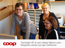 Teamet hos Coop Hasselager Distributionscenter